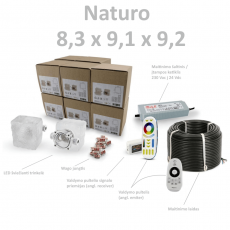 Naturo skaidri 8,3 x 9,1 x 9,2 set