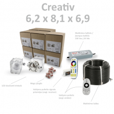 Creativ 6,2 x 8,1 x 6,9 set
