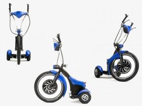 Elektrinis triratis Qugo, mėlynas