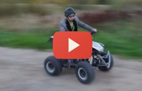 110cm3 QUAD BIKE converted into an electric 48V, Max 2500W (ID810)