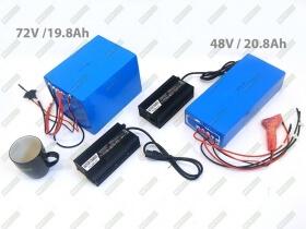 Li-Ion batteries 72V 19.8Ah and 48V 20.8Ah