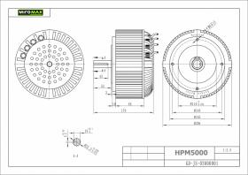 HPM-5000B brėžinys