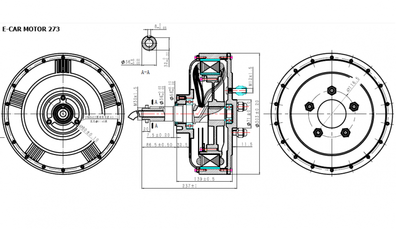 E Car Conversion Kit 2x7kw 72v Electric Car Conversion