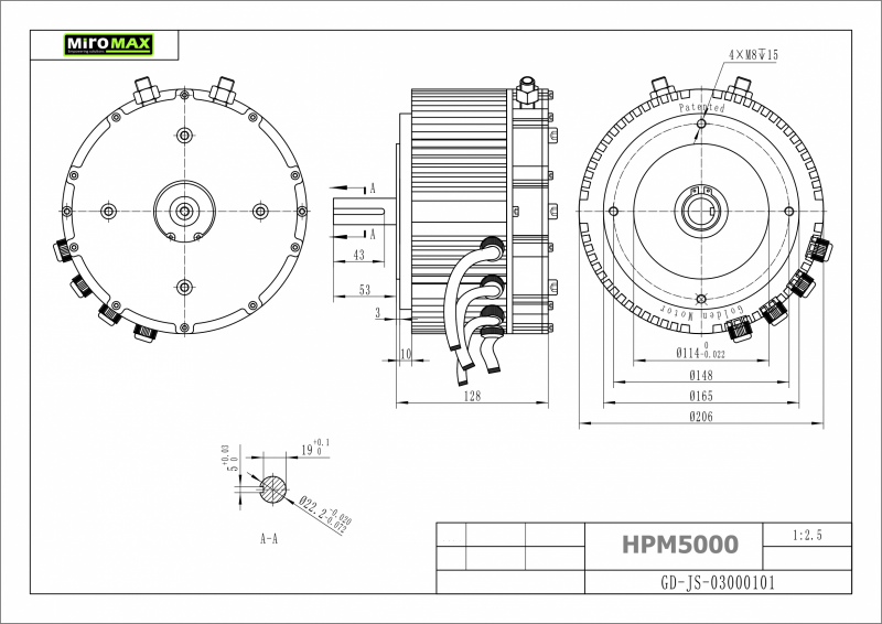 bldc    pmsm brushless motor hpm-5000b