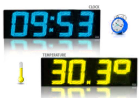 LED Clocks and Thermometers