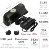 Li-ION battery 48V 10.4Ah with 3A charger and accessories
