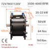 BLDC / PMSM brushless motor HPM-20KW | Double-shafted | - Nominal power 20kW~22kW | 26.8HP~29.5HP | 1200cm3