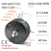 BLDC / PMSM brushless motor HPM-5000B - Nominal power 5kW~7,5kW | 6,7AG~10AG | 400 cm3