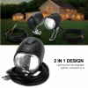 LED front bicycle light with HORN